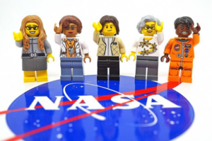 l to r: computer scientist Margaret Hamilton; mathematician Katherine Johnson; astronaut Sally Ride; astronomer Nancy Grace Roman; and astronaut Mae Jemison.